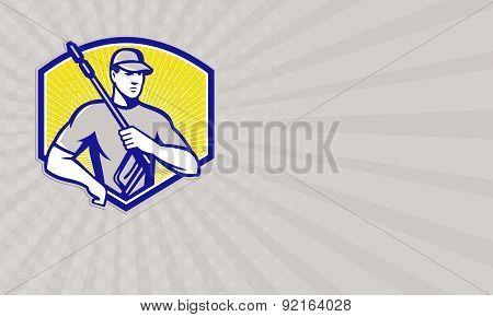 Business Card Power Washing Pressure Water Blaster Worker