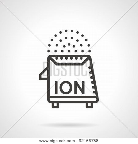 Room Ionizer Black Line Vector Icon