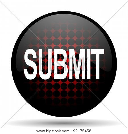 submit red glossy web icon  poster