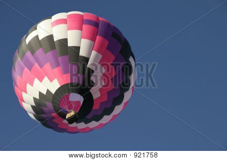 colorful balloon in clear sky with plenty of room for text poster