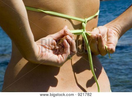 Tying A Bikini