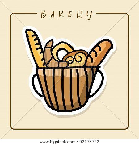 bakery desin over beige backround vector illustration
