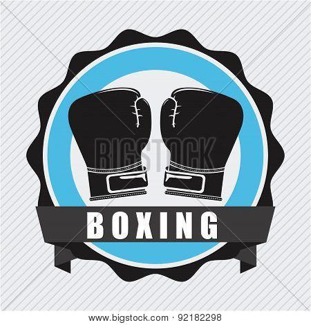 boxing design over  lineal background vector illustration