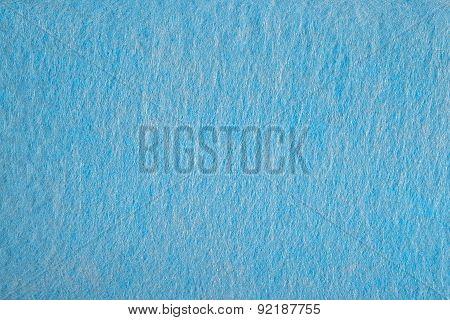 Blue Nonwoven Fabric Background