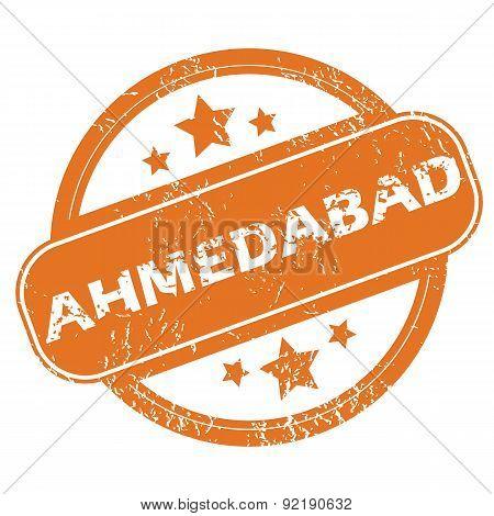 Ahmedabad round stamp
