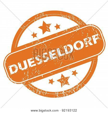 Duesseldorf round stamp