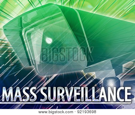 Abstract background digital collage concept illustration mass surveillance poster