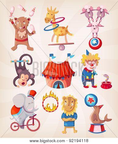 Circus Animals Doing Tricks