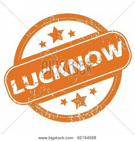 Lucknow round stamp