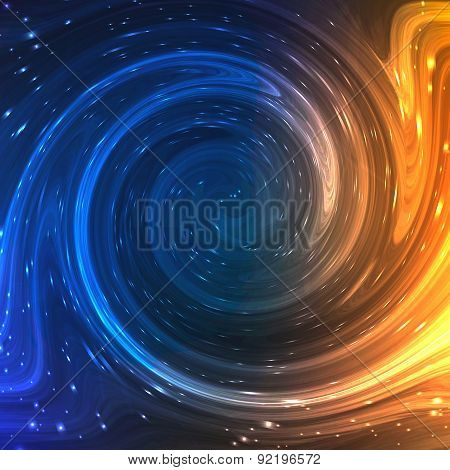Colorful Shining Swirl Like Flow of Water and Light Fire Background. Vector Illustration for artwork
