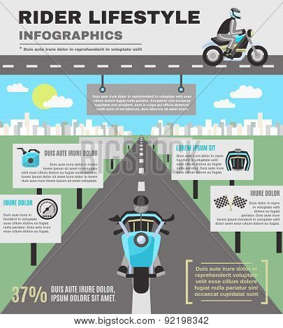Rider Infographics Set