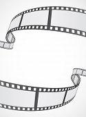 film reel strip abstract frame background design poster