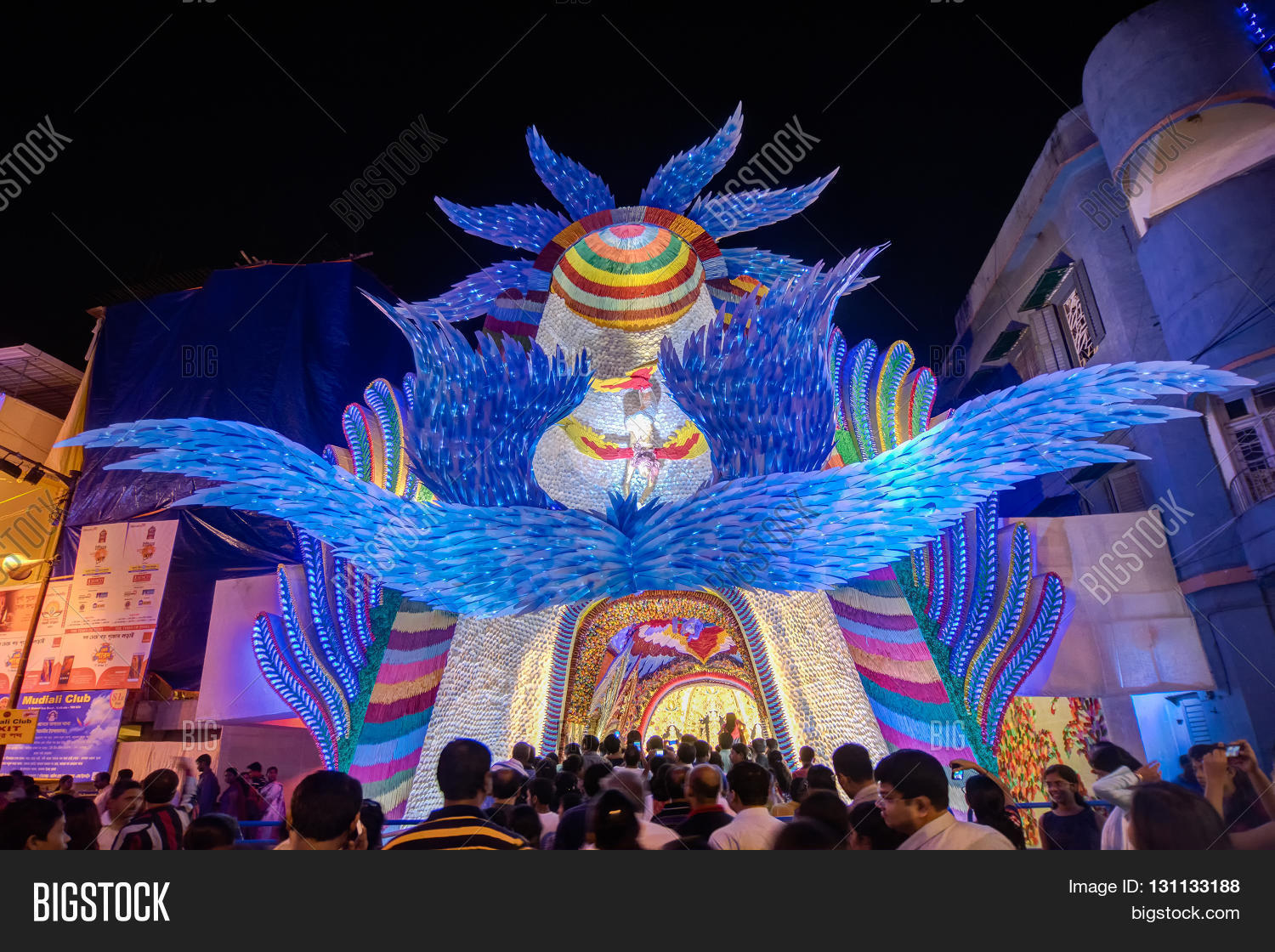Kolkata india october 18 2015 image photo bigstock kolkata india october 18 2015 night image of decorated durga puja pandal shot at thecheapjerseys Images