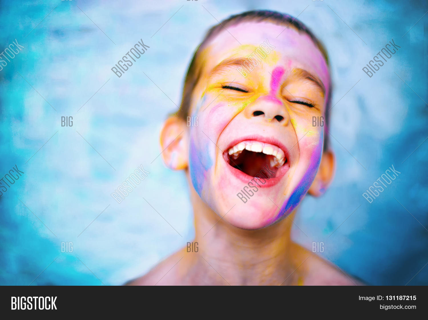 7f38784bc Laughing Kid Paint Image & Photo (Free Trial) | Bigstock