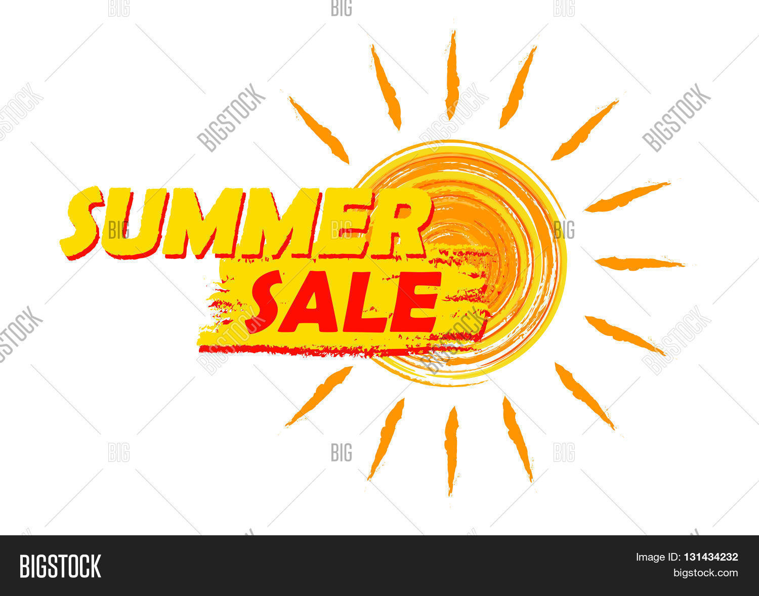 Summer Sale Banner Vector Photo Free Trial Bigstock