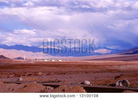 Schöne Szene von Ladakh-land