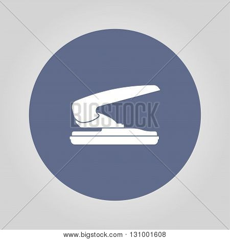 two hole paper puncher icon vector illustration