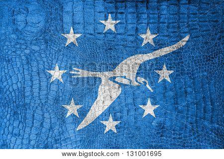 Flag Of Corpus Christi, Texas, On A Luxurious, Fashionable Canva