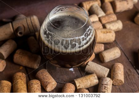 Dark Beer And Corks
