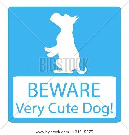 Very Cute Dogs Signs Vector Illustration on blue background
