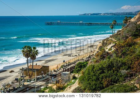 View Of The Beach And Pier In San Clemente, California.