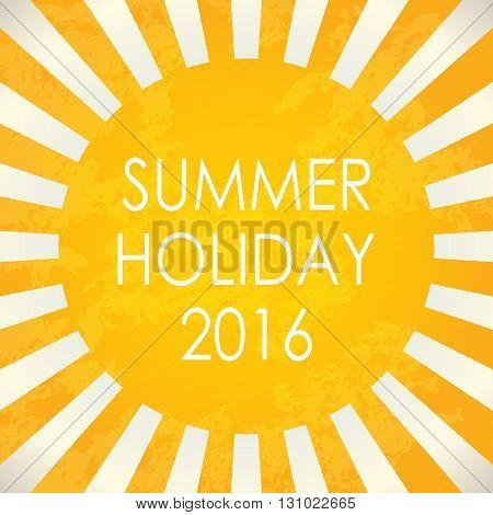 Summer background - 2016 vector illustration for summer