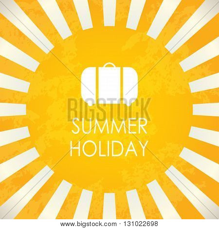 Summer holiday,  abstract yellow vector background, abstract illustration