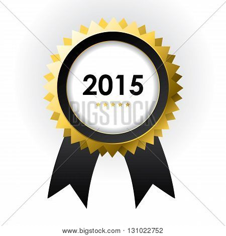 special label with ribbons - best of 2015 sign