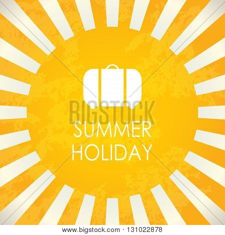 Summer holiday, special yellow abstract vector background