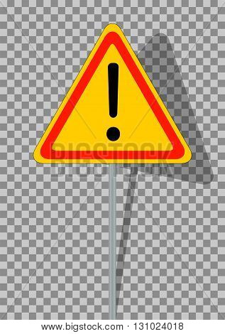 Road signs. Orange Badge guardrails on transparent background. Vector Illustration. EPS10
