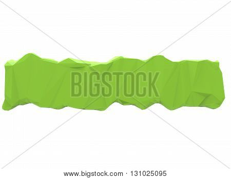 3d illustration of wooden log. simple to use. on white background isolated with shadow. icon for game or web. canvas for text. green texture with cracks. palette form