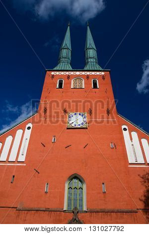 Cathedral In The City Of Vaxjo, Sweden