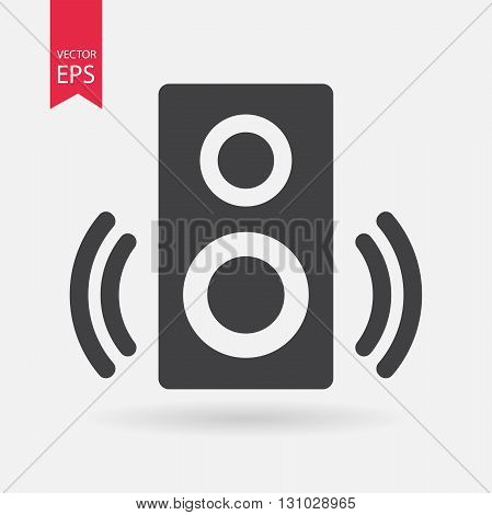 Speaker Icon Vector. Speaker sign isolated on white background. Speaker silhouette. Vector Flat design