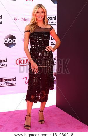 LAS VEGAS - MAY 22:  Heidi Klum at the Billboard Music Awards 2016 at the T-Mobile Arena on May 22, 2016 in Las Vegas, NV