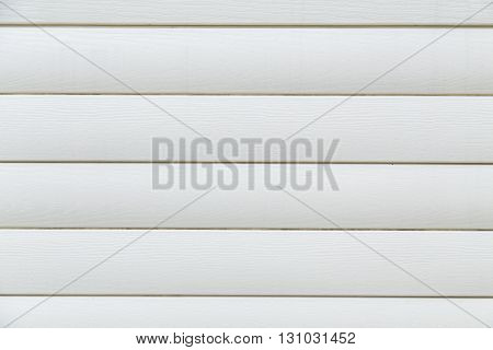 Texture of plastic panels, white siding, house wall