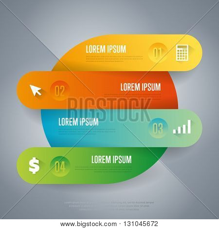 Infographics timeline concept. Time line stage. Various business Infographic elements. Design elements. Vector infographics. Infographics elements. Creative business concept of stage, parts, steps. Business infographics element. Infographics template.