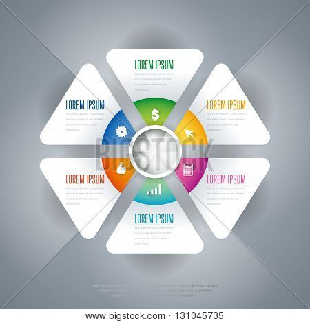 Infographics elements. Creative business concept of stage, parts, steps. Business infographics element. Infographics template. Infographics timeline concept. Time line stage. Various business Infographic elements. Design elements. Vector infographics.