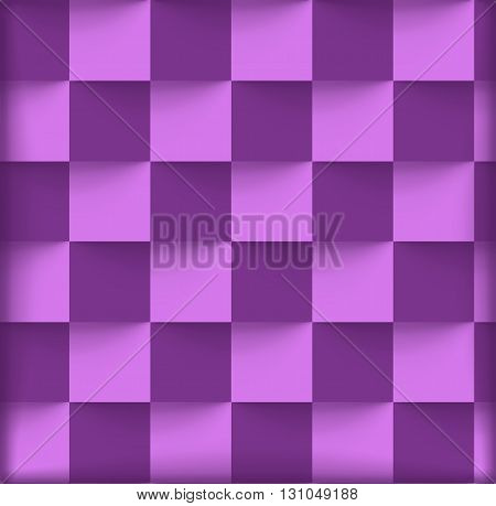 illustration of violet color squares with shadow background