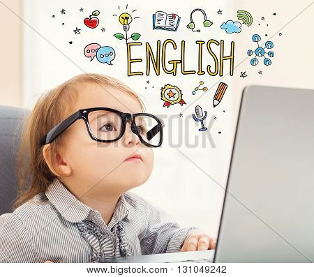 English Concept With Toddler Girl