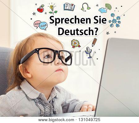 Sprechen Sie Deutsch (do You Speak German) Texts With Toddler Girl