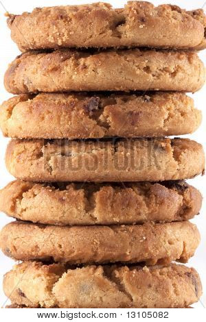 Tower Of Chocolate Chip Cookies