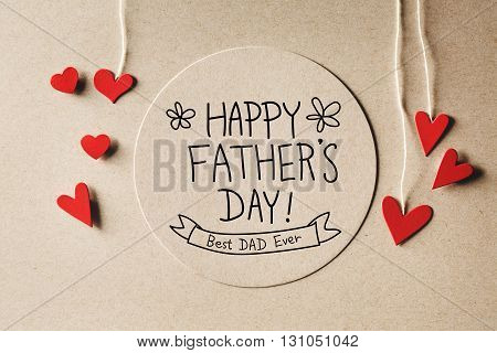 Happy Fathers Day Message With Small Hearts