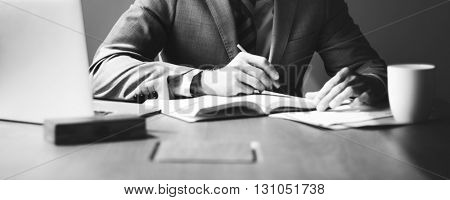 Businessman Working Strategy Business Concept