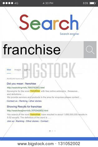 Franchise Grant Property Contract Brand Business Concept