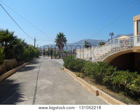 Travel Greece Crete Kavros village in Mediterranean Sea
