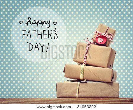 Fathers Day Message With Gift Boxes