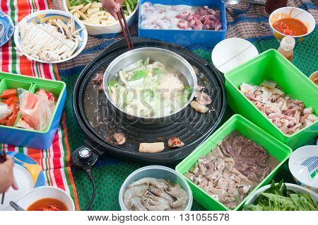 Thai and Chinese style hot pot cuisine