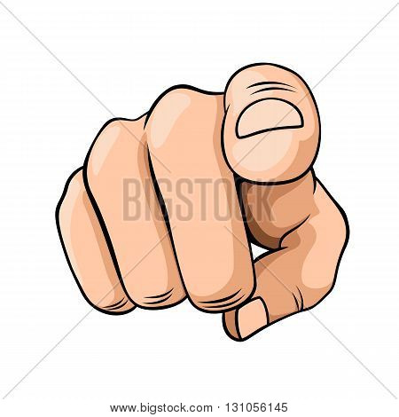 Pointer finger isolated on a white background