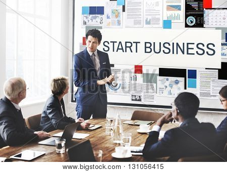 Start Business Aspirations Mission Opportunity Concept
