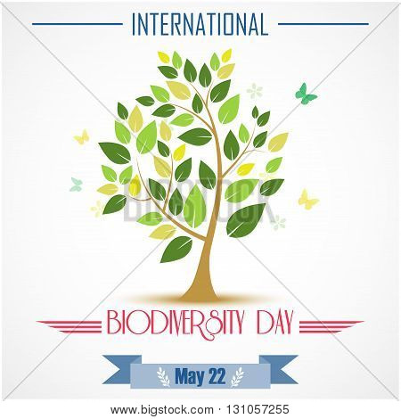Vector illustration of Abstract trees for Biodiversity international day